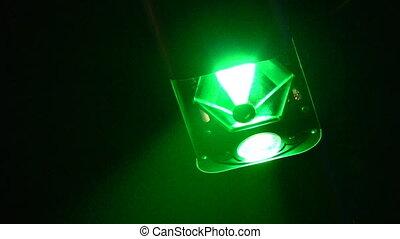 クラブ, ライト, システム, 夜