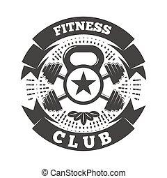 クラブ, ロゴ, フィットネス