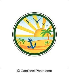 クラブ, ロゴ, 浜