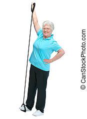 クラブ, 年長の 女性, 健康, 魅力的