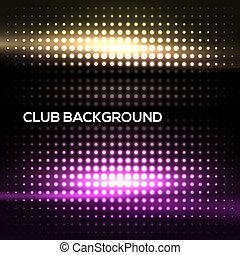 クラブ, 抽象的, カラフルである, 背景, ディスコ