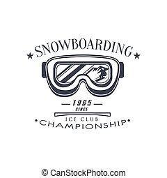 クラブ, 紋章, 選手権, デザイン, 氷