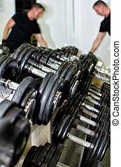 クラブ, 装置, 訓練, 重量, フィットネス