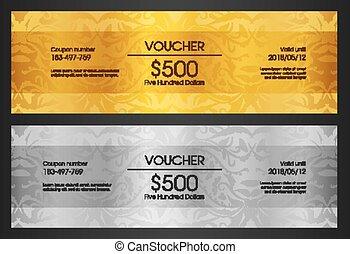 クラブ, vip, 金のカード