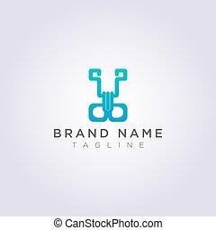 クランプ, ビジネス, ブランド, あなたの, デザイン, ロゴ, ∥あるいは∥