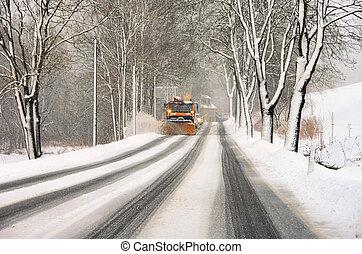 クリアランス, 冬, 道