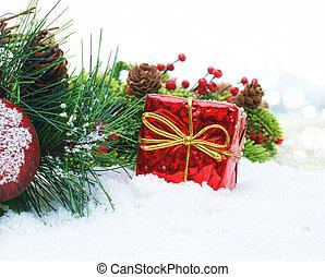 クリスマスの ギフト, 中に, 雪