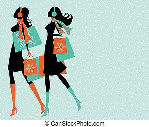 クリスマスの ショッピング