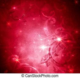 クリスマスの 休日, 赤, 型, 抽象的, 背景