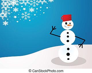 クリスマスの 休日, 雪だるま