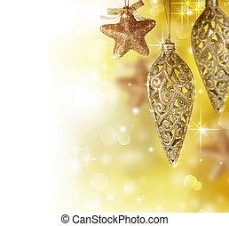 クリスマスの 装飾, ボーダー, デザイン