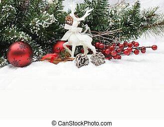 クリスマスの 装飾, 中に, 雪