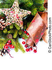 クリスマスの 装飾, 休日の 装飾, 隔離された, 白