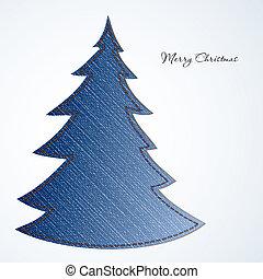 クリスマスカード, ∥で∥, 木, から, 材料, ジーンズ
