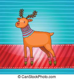クリスマスカード, ∥で∥, 鹿