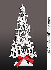 クリスマスカード, 木