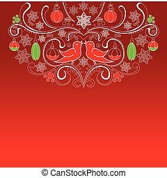 クリスマスカード, 赤