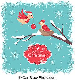 クリスマスカード, 鳥