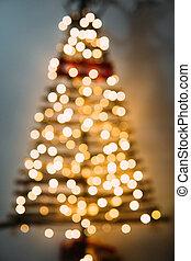 クリスマスツリー, から, の, 焦点を合わせなさい。