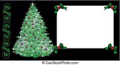 クリスマスツリー, グリーティングカード
