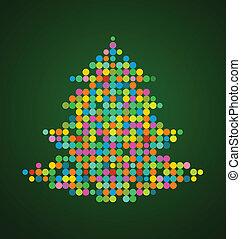 クリスマスツリー, ピクセル, 背景, クリスマス