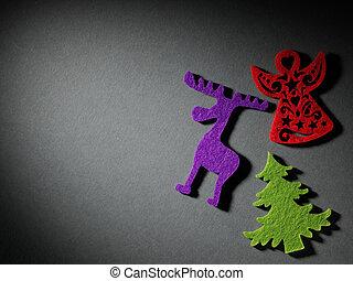 クリスマスツリー, ペーパー, 切断