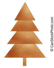 クリスマスツリー, リサイクルされる, papercraft