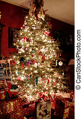 クリスマスツリー, 夜で