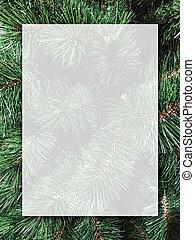クリスマスツリー, 透明, デザイン, 板, 背景, ブランク, 白, クリスマス