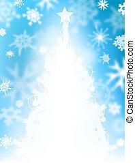 クリスマスツリー, 雪