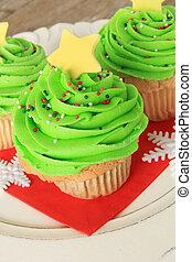 クリスマスツリー, cupcake