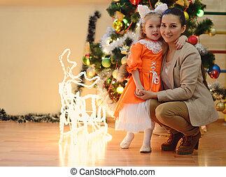 クリスマスツリー, moter, 娘