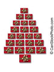 クリスマスプレゼント, 木, 形