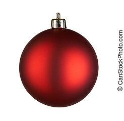 クリスマスボール, 背景, 白