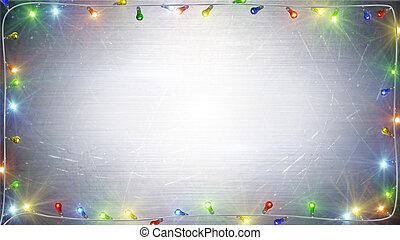 クリスマスライト, フレーム, 背景