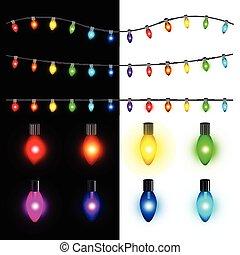 クリスマスライト, ベクトル, セット