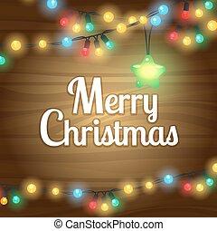 クリスマスライト, ボーダー, フレーム