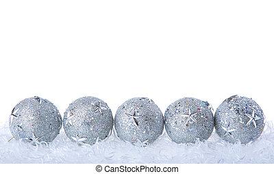 クリスマス安っぽい飾り, 銀