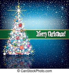 クリスマス祝典, 木, 雪片, 挨拶