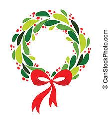 クリスマス花輪