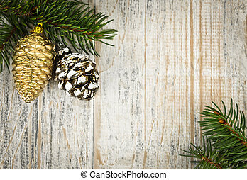 クリスマス装飾, 背景, ブランチ