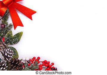 クリスマス, ∥あるいは∥, 装飾, スペース, ブランク, テキスト, 広告