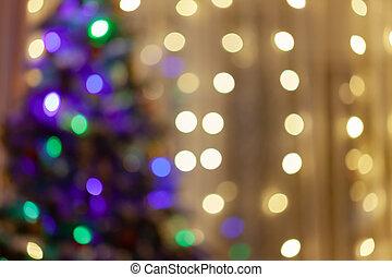 クリスマス, ぼやけたツリー