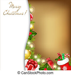 クリスマス, イラスト, 型