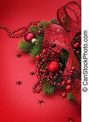 クリスマス, カード, 挨拶