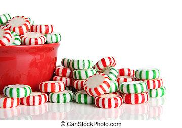 クリスマス, キャンデー, ハッカドロップ