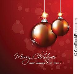 クリスマス, グリーティングカード, ∥で∥, ボール