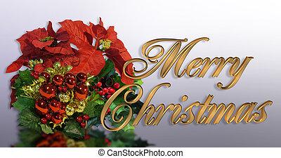 クリスマス, グリーティングカード, 3d, 金, tex