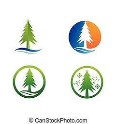 クリスマス, シンボル, 木, ベクトル