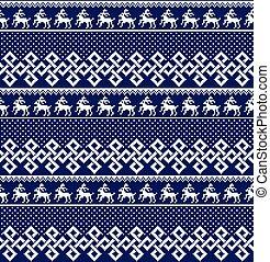 クリスマス, スタイル, 冬, お祝い, パターン, -, seamless, 年の, ノルウェー語, 新しい, スカンジナビア人, ピクセル